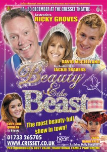 David McClelland appears in the pantomime Beauty and the Beast at The Cresset Theatre, Peterborough